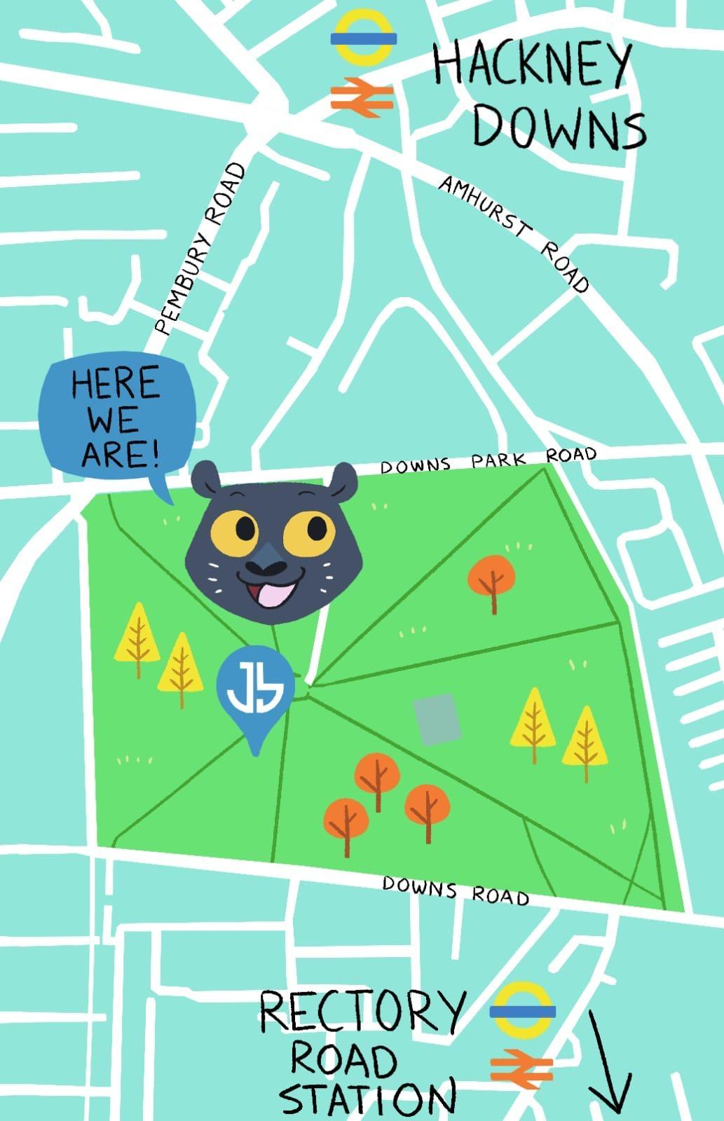 Jus little ballers-hackney-map